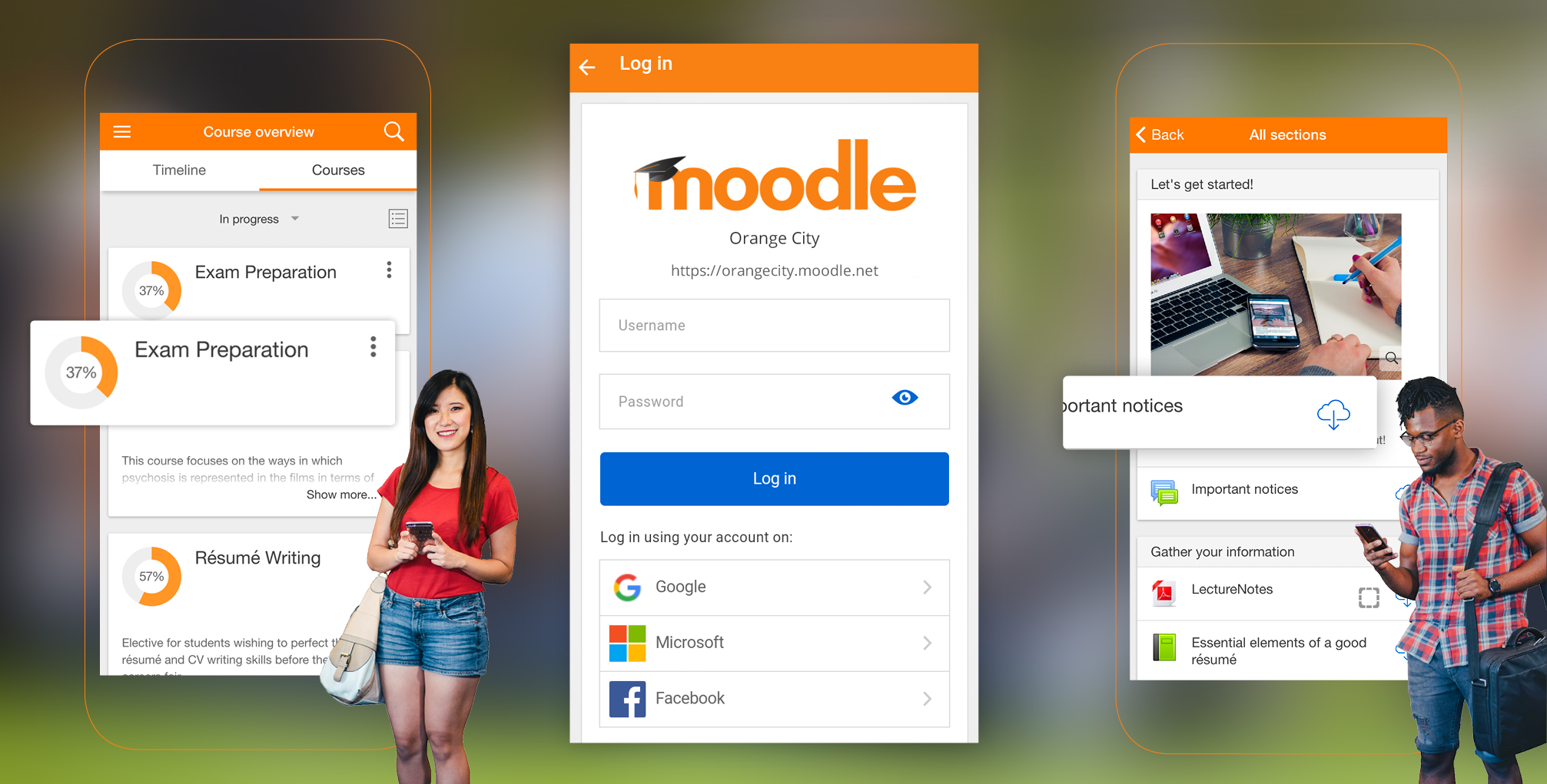 Moodle application mobile